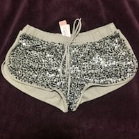 BNWT Silver Sequinned Shorts - size XS  Vancouver, V5R