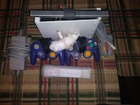 2 Gamecube controllers one nunchuck Wii controller