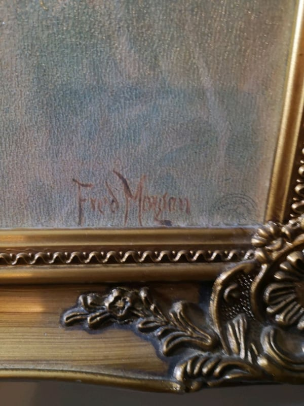 Fred Morgan painting signed and framed ddee1c50-5285-4622-a622-1d9e2aa4b1a9