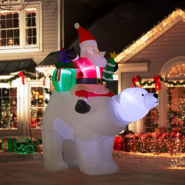 Brand New 7 Foot Giant Inflatable LED Santa Christmas Blow Up Yard Decoration
