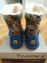 NEW Bearpaw Blue Suade Boots