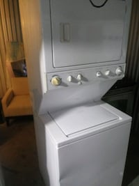 Stackable washer and dryer laundry center
