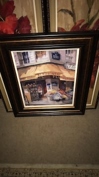 brown wooden framed painting of house Wilmington, 28405