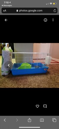 guinea pig cage (everything inside included) + new bag of bedding