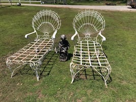 Antique Peacock Lounge Chairs