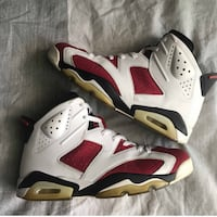 white-and-red Air Jordan 6 shoes Montgomery Village, 20886