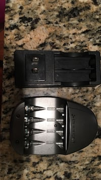 two black battery chargers