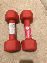 two red fixed weight dumbbells 阿灵顿, 22202