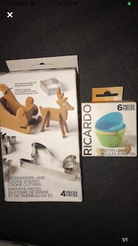 Ricardo brand cookie cutters + reusable muffin liners Toronto, M5V