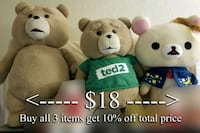 NEW LOW PRICE - Ted & Rilakkuma Plush West Covina, 91792