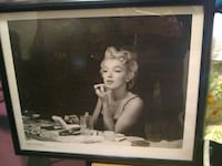 Marilyn Monroe painting with black wooden frame Lexington