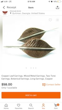 Copper and Sterling Silver Ear Ears