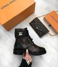 Black louis vuitton monogram leather boot with box Brossard, J4Z 3C2