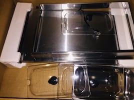 Black and gray kitchen appliance