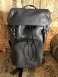 NWT Coach Mens F72311 Henry Backpack in Midnight Pebble Leather MSRP $ 695.00