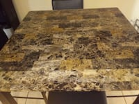 Faux marble pub height 5pc table set