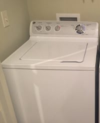 white top-load clothes washer