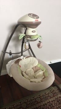 baby's white and green cradle and swing Surrey, V3W 0T9