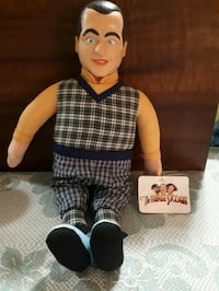 Three Stooges plush doll with plastic head.  Whitby, L1P 1A2
