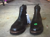 H&W real black leather children's boots Edmonton, T6R 0B4