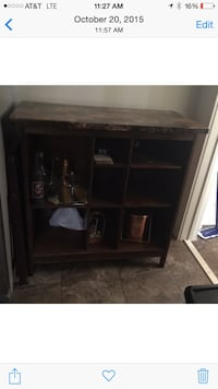 Indoor bar set. Solid wood brass bar for your feet Youngsville, 70592