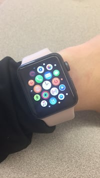 space gray applewatch with pink sportsband Washington, 20024