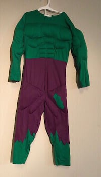 Child Marvel The Incredible Hulk Size 4-6 yo Play Time Dress Up Costume