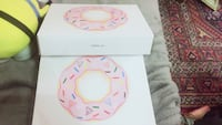 pink and white floral ceramic plate Toronto