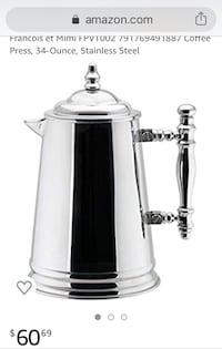 Stainless Steel French Coffee Press Toronto, M4K 2L7