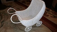 Vintage Childs Wicker Baby Carriage Monroe, 30655