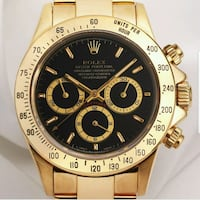 round gold-colored Invicta chronograph watch with link bracelet Winton, 95388