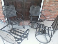 4 Metal Patio Chairs Rockville