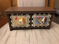 DECORATIVE CERAMIC ROOSTER DRAWERS 2 AVAILABLE