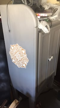 Cabinet I drafted and carved the custom legs myself it is grey needs a little more paint maybe but like new Jacksonville, 28540