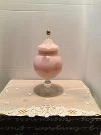 Vintage Opaque Pink Milk Glass Apothecary Jar  Excellent condition   Riverside, 92506