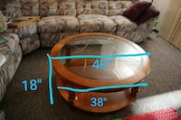 SOLID CHERRY WOOD COFFEE TABLE