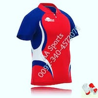 sports garment, t shirts, polo shirts,red,blue,yellow,hockey Sialkot