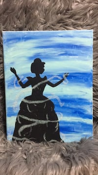 blue and sparkly Cinderella painting  Saint Peters, 63376