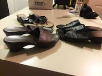 3 pair leather sandals North Las Vegas, 89031
