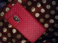 red and black polka dot leather wallet Ephrata, 17522