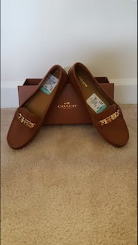 Pair of brown Coach leather loafers Columbia, 21046