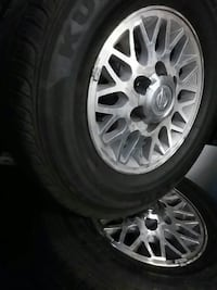4 tires with rims  245 70 15
