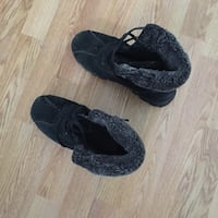 Pair of black suede shoes Spruce Grove, T7X 3H9