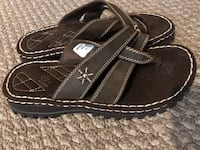Brown leather women sandals, size 9 Calgary, T2K