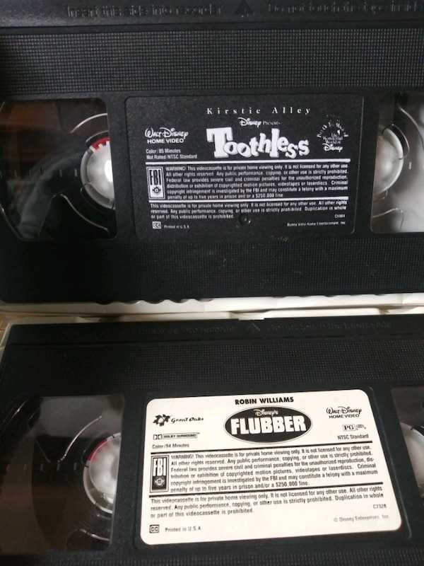 Toothless and Flubber vhs tapes 686d221c-ad77-45ad-aeb0-554af99adf92
