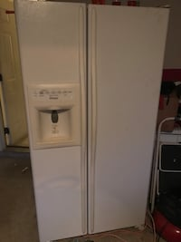 white side-by-side refrigerator with dispenser Cumming, 30028