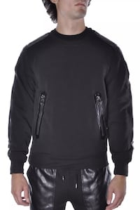 Men's Leather Luxury crewneck Sweater Sweatshirt Washington, 20032