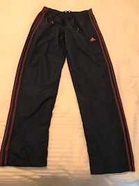 Men's Adidas ClimaLite Black and Red Strip Pants