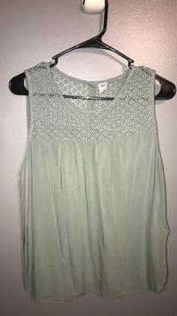 Women's green sleeveless top Concord, 30206