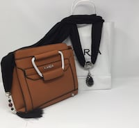 brown and black leather crossbody bag Norwalk, 90650